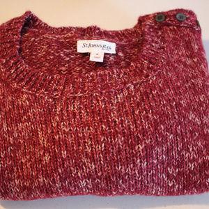 St. John's Bay Sweaters - Maroon Woman's Long Sleeve XL Sweater